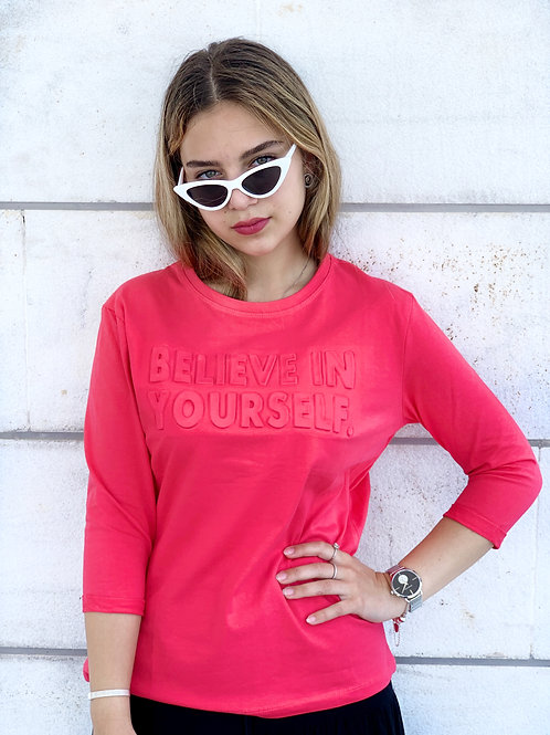 t-shirt believe 3/4