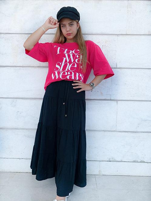 חצאית מקסי פרי