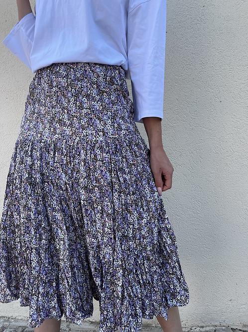 חצאית פליסה מקומט
