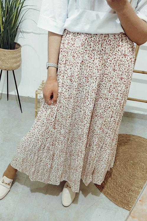 חצאית פליסה פרחים