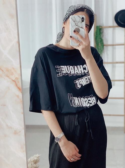 T-shirt  אוברסייז לוק