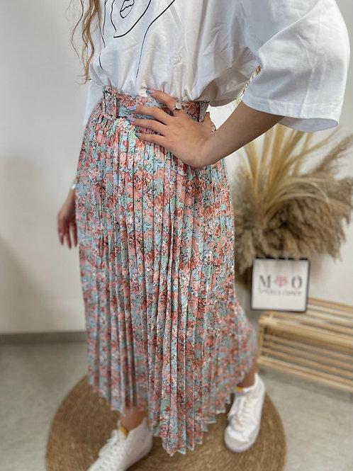 חצאית נול פליסה חגורה
