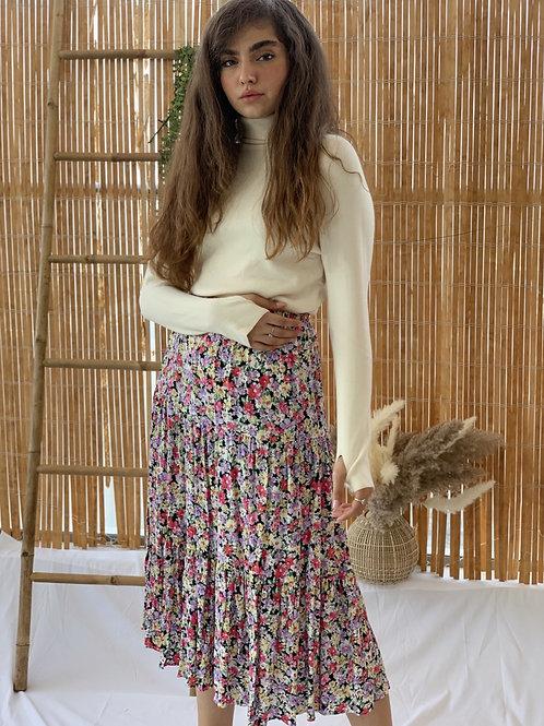 חצאית קני פרחים