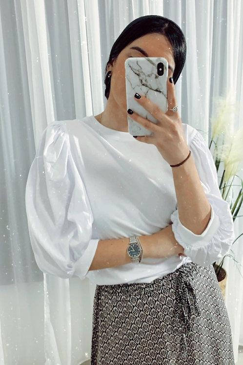 חולצת הודי שרוול נפוח