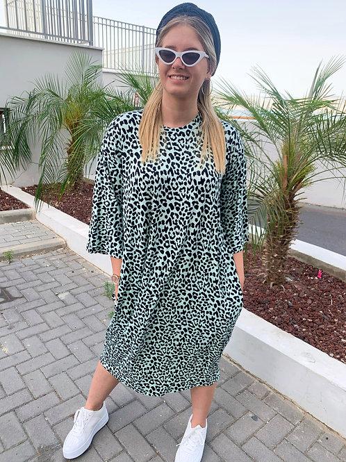 שמלת לירון אוברסייזית מנטה