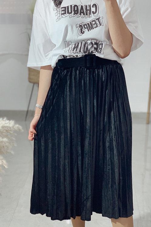חצאית פליסה קטיפה