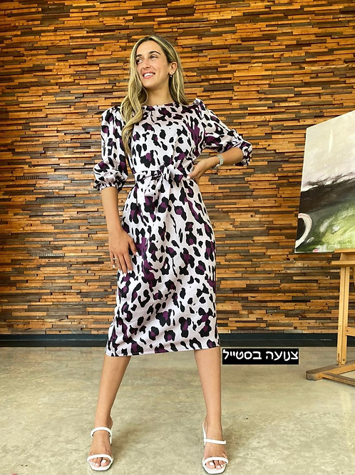 שמלת tiger סאטן