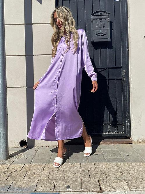 שמלת משי סאטן