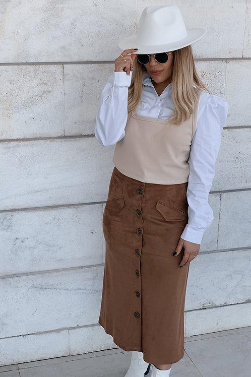 חצאית גמס כפתורים