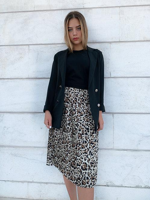 חצאית פליסה מנומרת