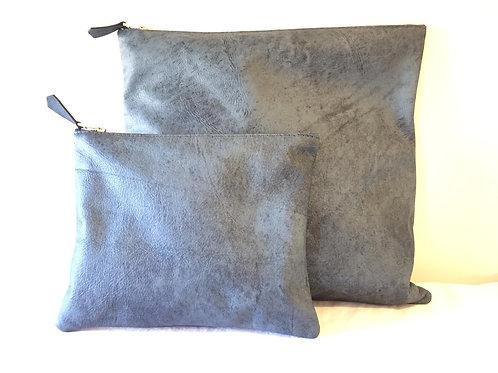 תיק טלית ותיק תפילין סט,מעור נאפה איכותי, סטייל חלק, כחול פראי