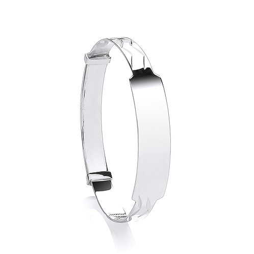 Sterling Silver Expandable  ID Baby Bangle