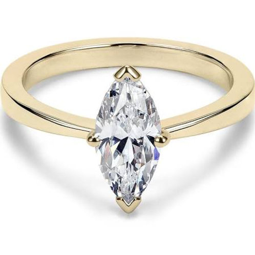 Yellow Gold Marquise Cut