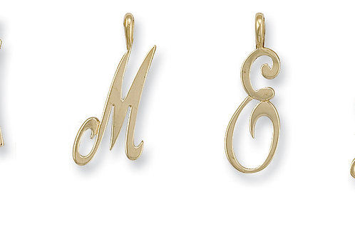9ct yellow Gold Script initials