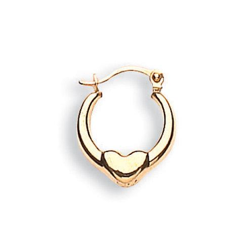 9ct Yellow Gold Heart earrings