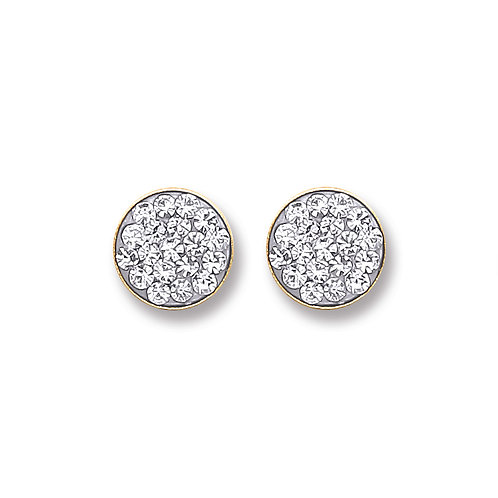 9ct Gold Crystal studs
