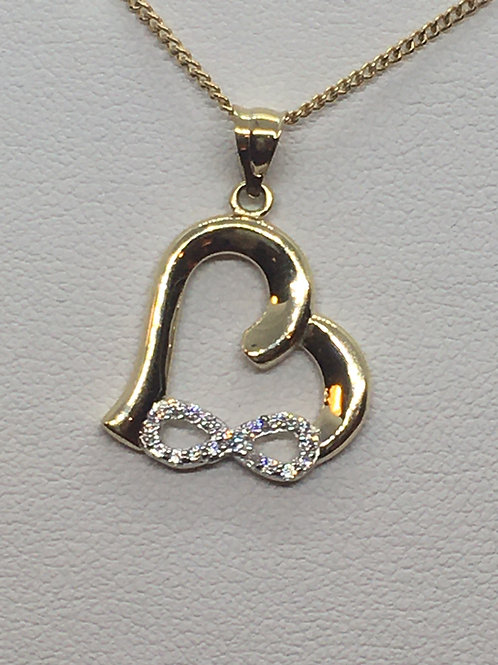 9ct Yellow Gold Heart Necklace