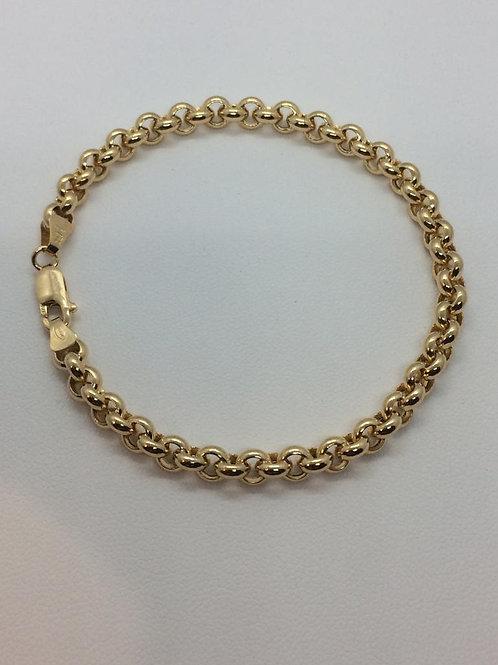 9ct Gold Ladies Belcher Bracelet