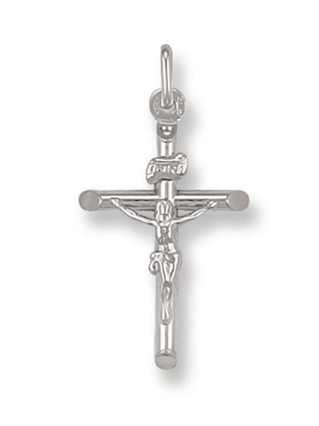 9ct White Gold Crucifix