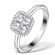 0.70CT DIAMOND AND 18K WHITE GOLD GALILEO RING