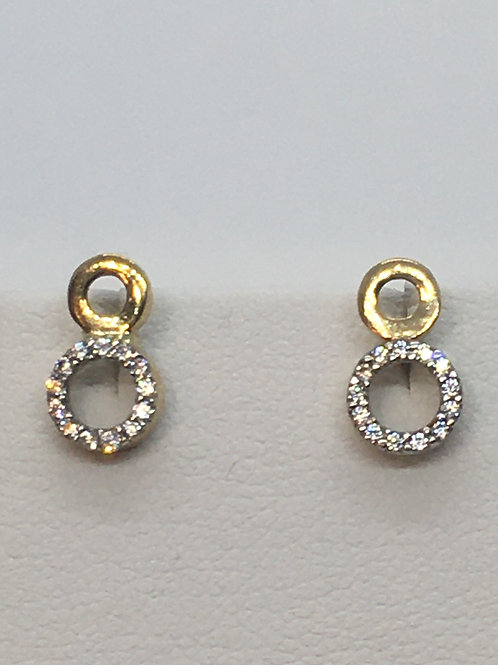 9ct Yellow Gold Cubic Zirconia Earrings