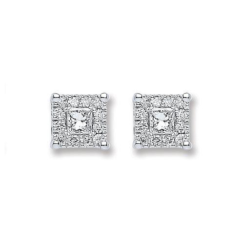 18ct White Gold  0.25ct Diamond Stud Earrings