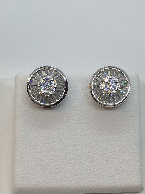 9ct White Gold Cubic Zirconia Earrings