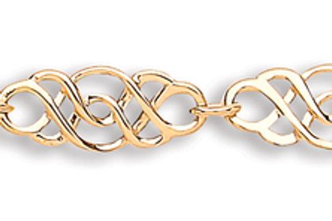 9ct Gold Ladies Celtic Link Bracelet