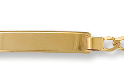 9ct yellow gold ladies ID bracelet