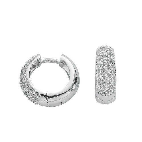 9ct White Gold 0.42ct Diamond Earrings