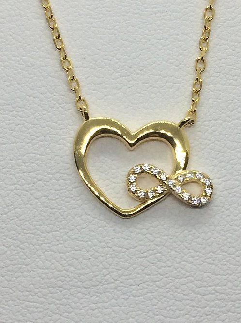 Sterling Silver Gold plated Heart Pendant