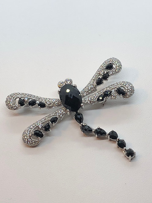 Sterling Silver Marcasite Dragon Fly Brooch/Pendant