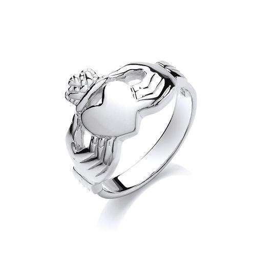 Silver Gents Claddagh Ring