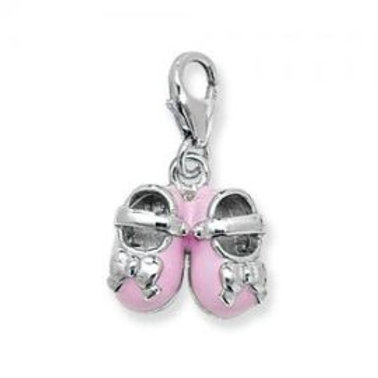 CHARMS OF LONDON PINK SHOES CHARM