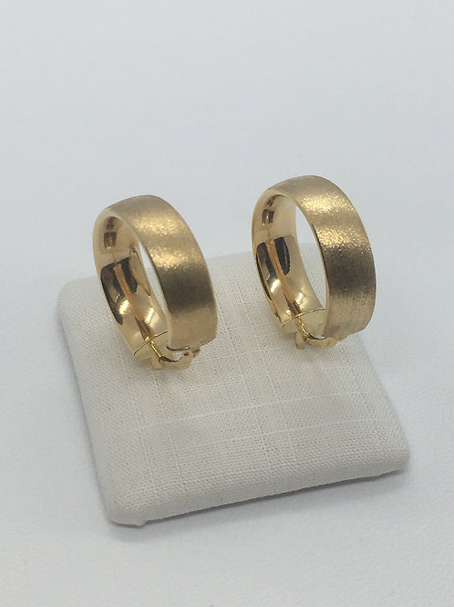9ct Yellow Gold Satin Hoops