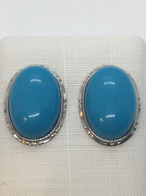 18ct White Gold Turquoise Earrings