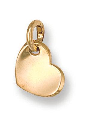 9ct yellow Gold heart pendant