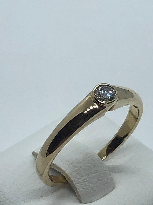 9ct Yellow Gold Diamond Ring