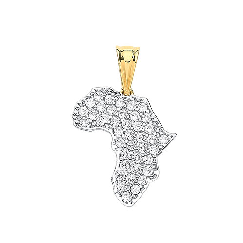 9ct yellow Gold MAP of Africa