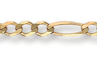 """9ct yellow Gold figaro chain 16"""""""