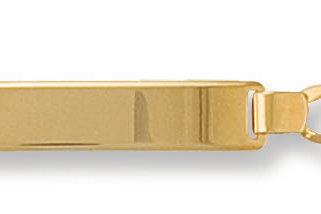 9ct yellow gold ladies ID bracelet