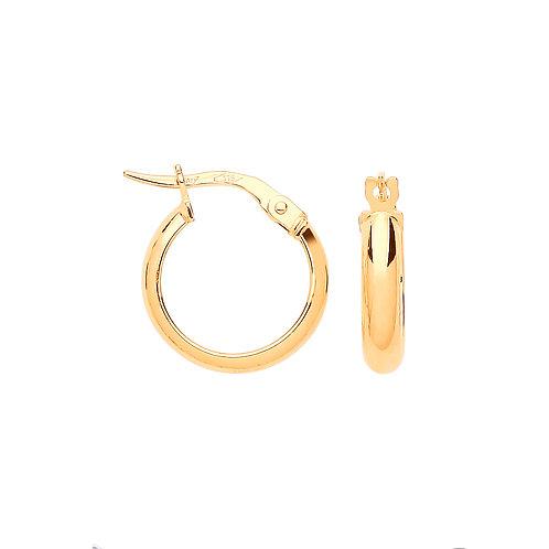 9ct yellow Gold 2.0cm Hoop Earrings