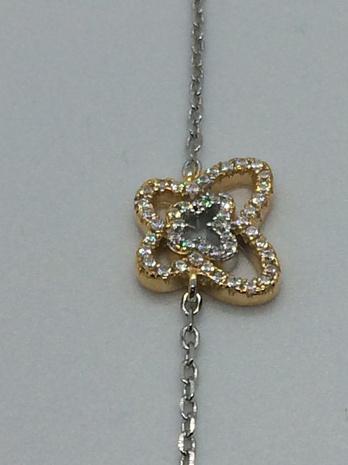 Sterling Silver Gold plated Ladies Bracelet