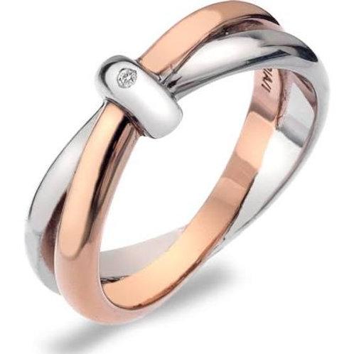 Eternity Silver & 18ct Rose Gold Interlock