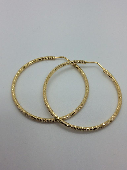 Sterling Silver Gold plated  Diamond Cut Earrings