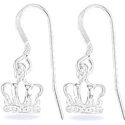 Sterling Silver Crown Earrings