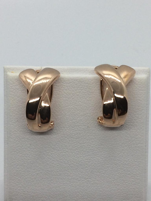Sterling Silver Rose Gold plated KissEarrings