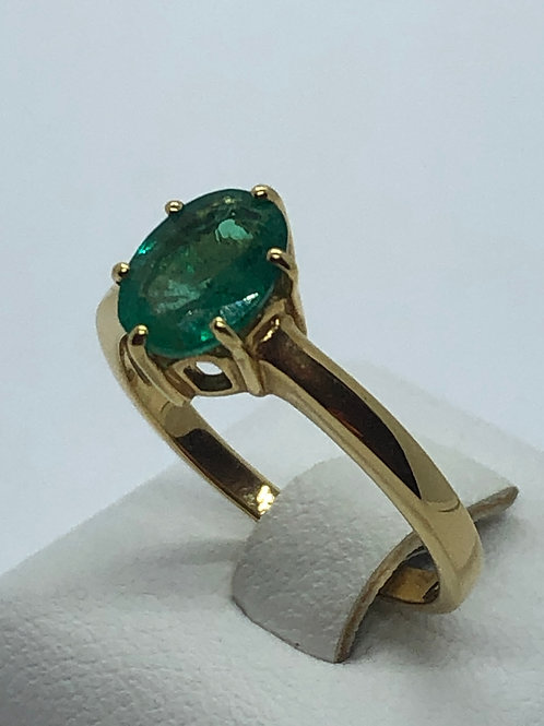 18ct Yellow Gold Emerald Ring