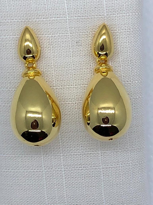 Sterling Silver Gold plated Drop Earrings