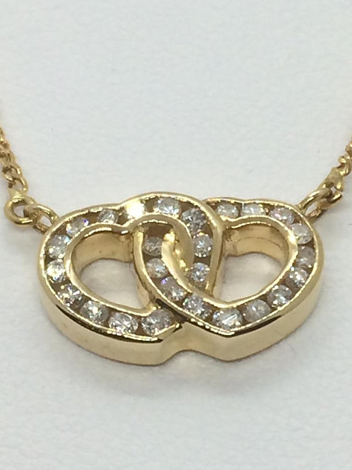 18ct Yellow Gold Diamond Necklace